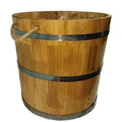 Кадка дубовая для цветов 58 литров