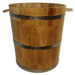 Кадка дубовая для цветов 80 литров